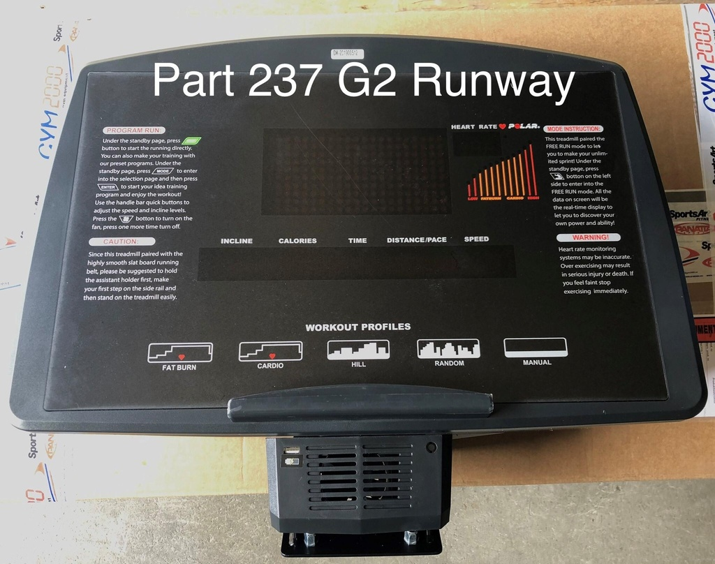 Computer Console Assembly Part 237 G2 Runway