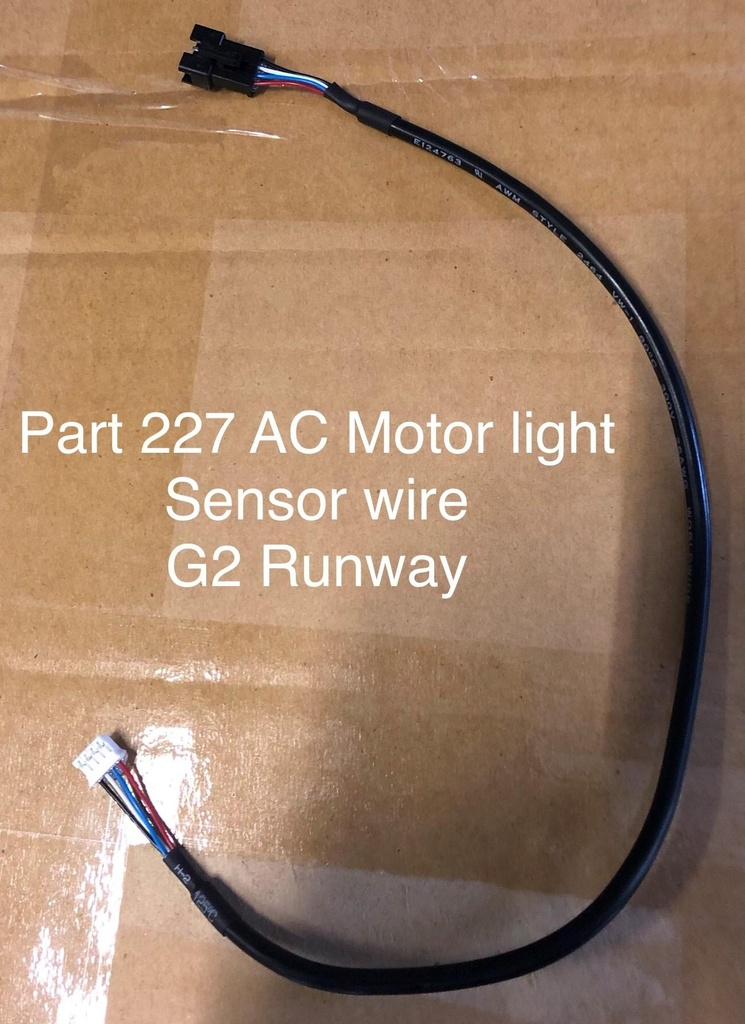 AC Motor Light Sensor Wire Part 227 G2 Runway